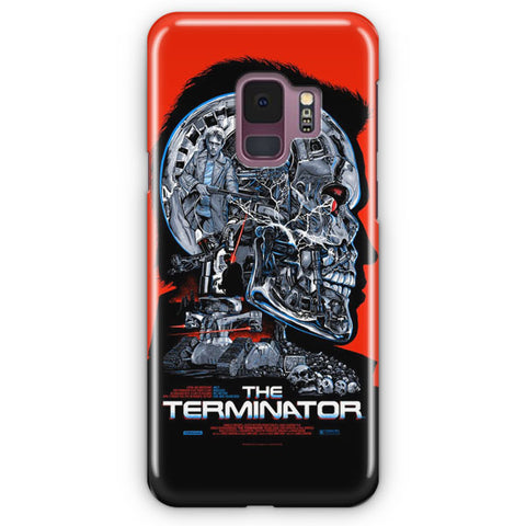 Vintage Terminator Movie Poster Samsung Galaxy S9 Case