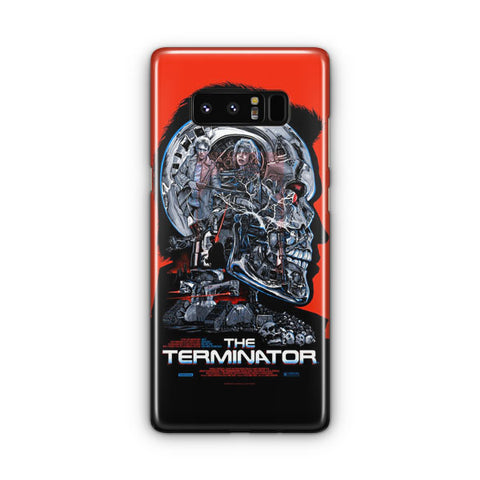 Vintage Terminator Movie Poster Samsung Galaxy Note 8 Case