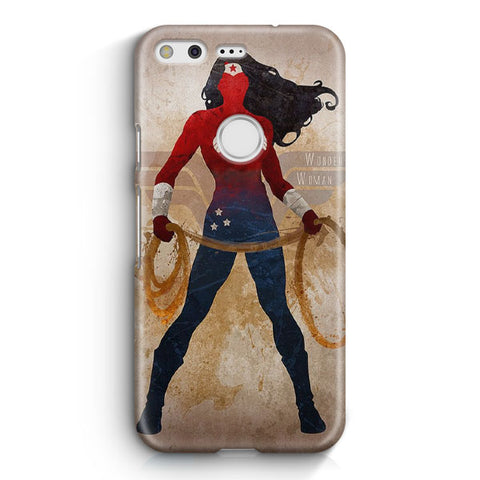 Vintage Wonder Woman Pattern Google Pixel Case