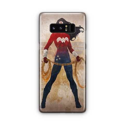 Vintage Wonder Woman Pattern Samsung Galaxy Note 8 Case