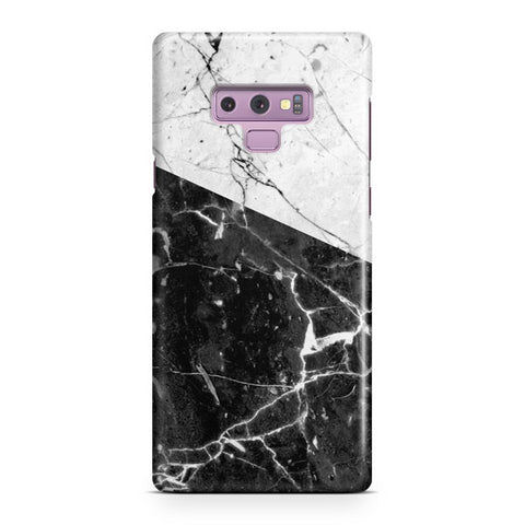 Black And White Marble Samsung Galaxy Note 9 Case