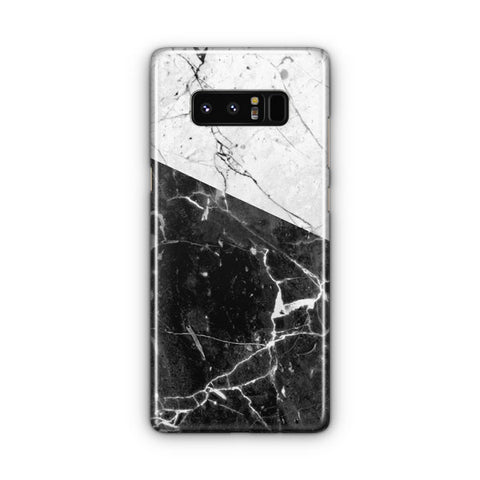 Black And White Marble Samsung Galaxy Note 8 Case