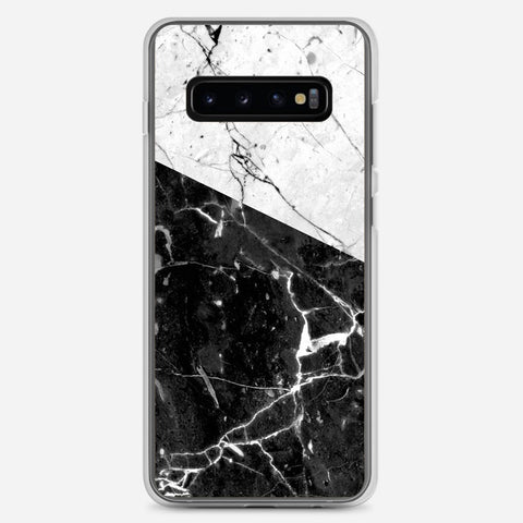 Black And White Marble Samsung Galaxy S10 Plus Case
