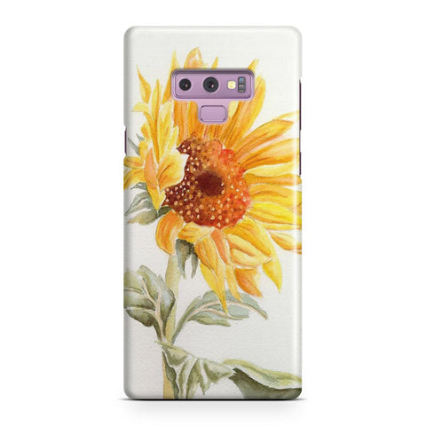 Watercolor Rustic Sunflowers Samsung Galaxy Note 9 Case