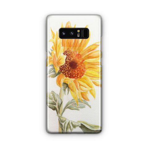 Watercolor Rustic Sunflowers Samsung Galaxy Note 8 Case
