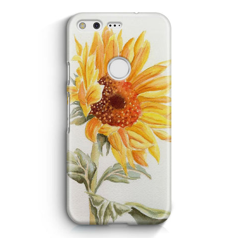 Watercolor Rustic Sunflowers Google Pixel Case