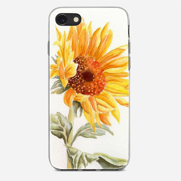 Watercolor Rustic Sunflowers iPhone X Case