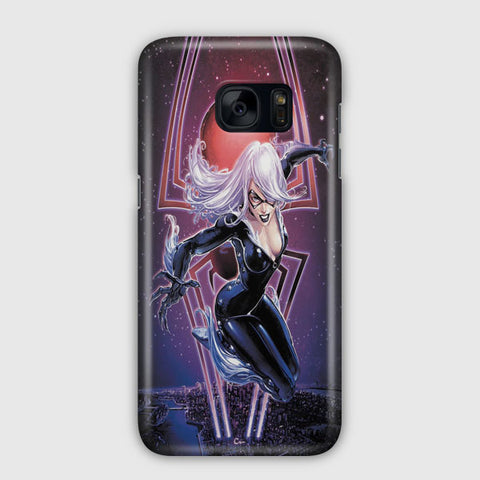 Black Cat Samsung Galaxy S7 Case