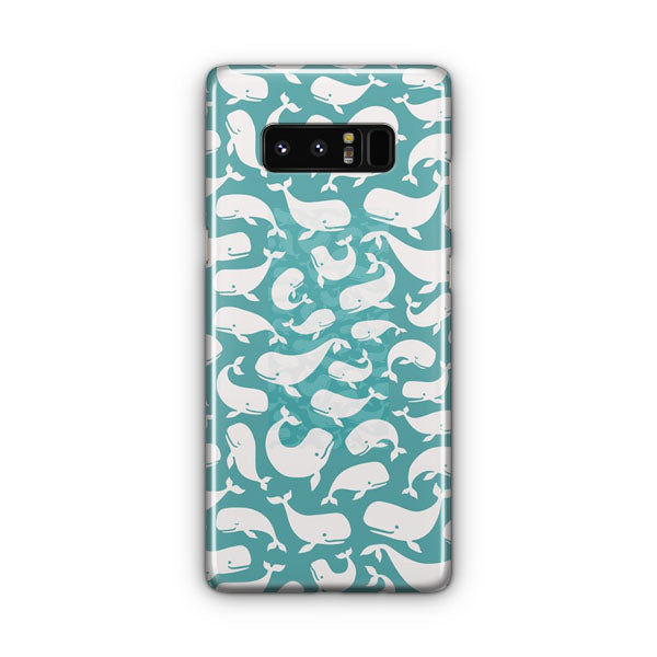 Whale Moby Dick Pattern Samsung Galaxy Note 8 Case