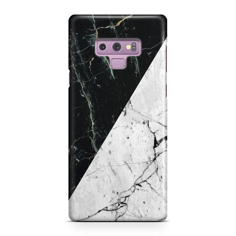 White Black Marble Samsung Galaxy Note 9 Case