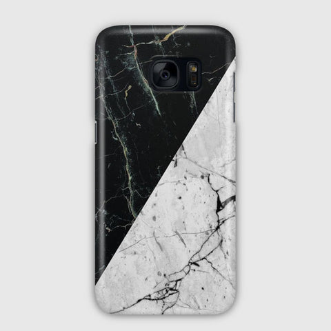White Black Marble Samsung Galaxy S7 Edge Case