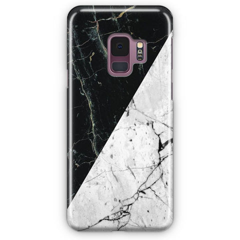 White Black Marble Samsung Galaxy S9 Case