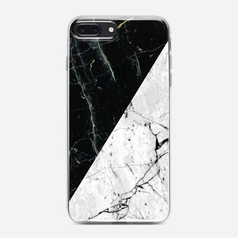 White Black Marble iPhone 8 Plus Case