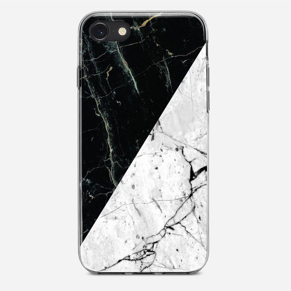 White Black Marble iPhone X Case