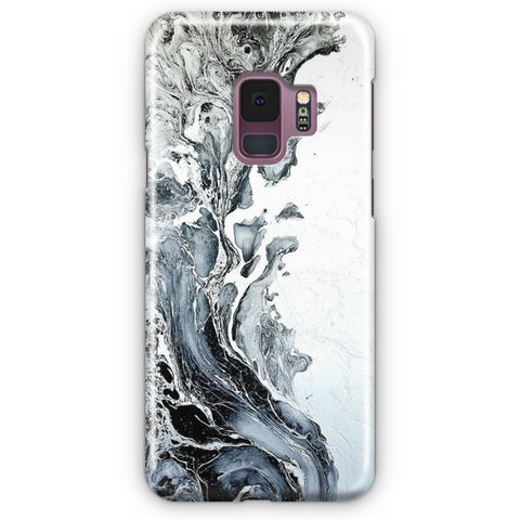 White Black Painting Samsung Galaxy S9 Case
