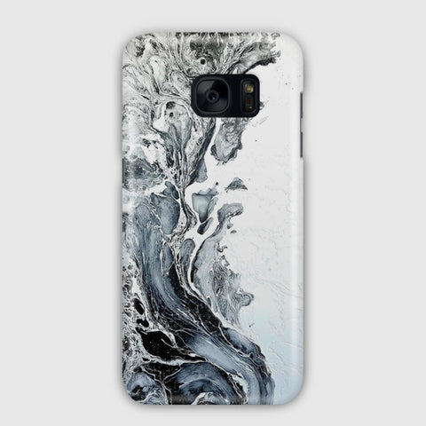 White Black Painting Samsung Galaxy S7 Edge Case
