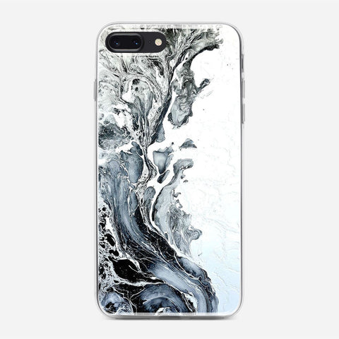 White Black Painting iPhone 8 Plus Case
