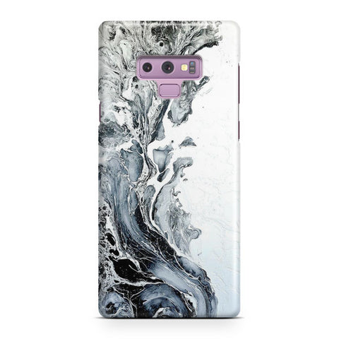 White Black Painting Samsung Galaxy Note 9 Case