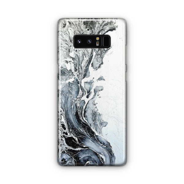 White Black Painting Samsung Galaxy Note 8 Case