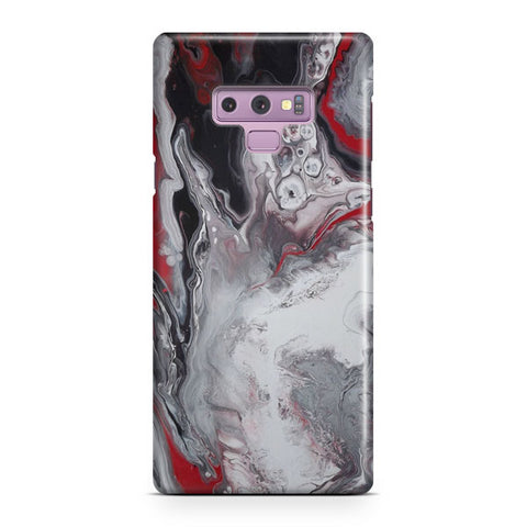 White Red Marble Samsung Galaxy Note 9 Case