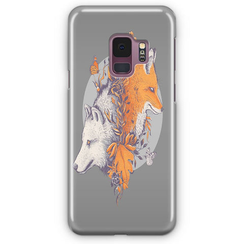 Wolf And Fox Samsung Galaxy S9 Case