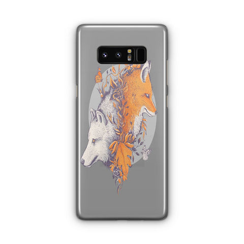 Wolf And Fox Samsung Galaxy Note 8 Case