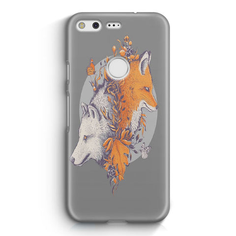 Wolf And Fox Google Pixel Case
