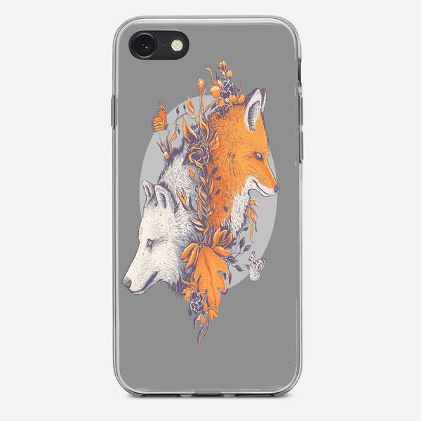 Wolf And Fox iPhone X Case