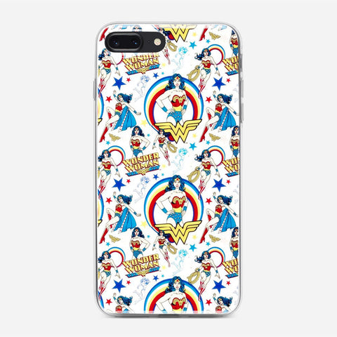 Wonder Woman Pattern iPhone 8 Plus Case