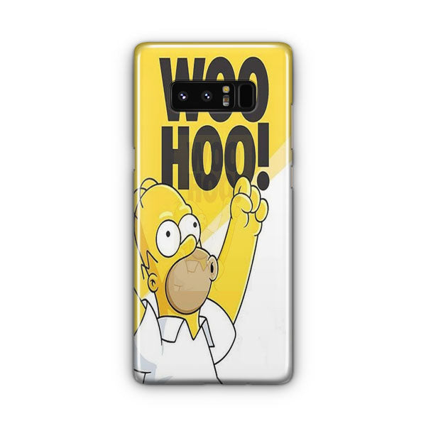Woo Hoo Simpson Samsung Galaxy Note 8 Case