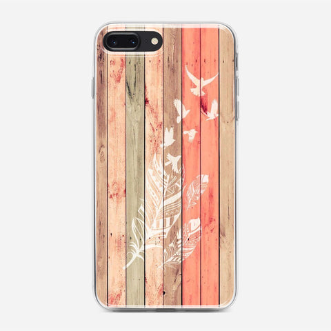 Wood To White Birds iPhone 7 Plus Case
