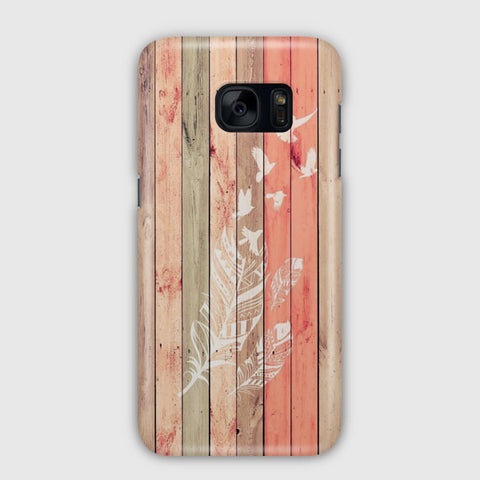 Wood To White Birds Samsung Galaxy S7 Edge Case