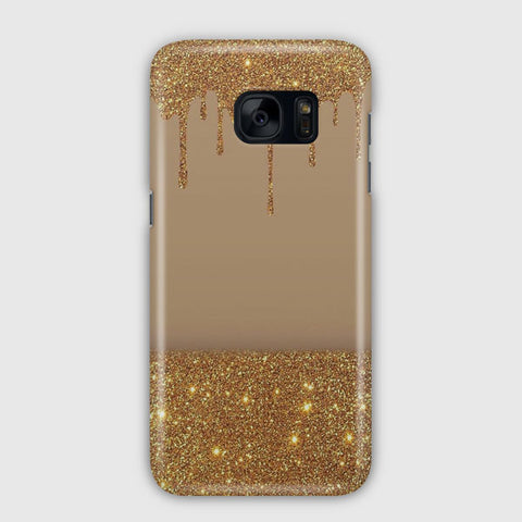 Black Gold Glitter Chevron Samsung Galaxy S7 Edge Case