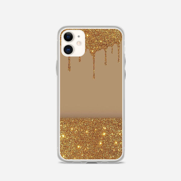 Black Gold Glitter Chevron iPhone X Case