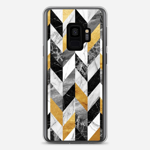 Black Gold Marble Pattern Samsung Galaxy S9 Case