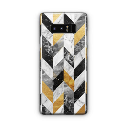 Black Gold Marble Pattern Samsung Galaxy Note 8 Case