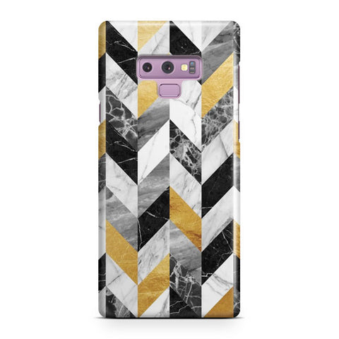 Black Gold Marble Pattern Samsung Galaxy Note 9 Case