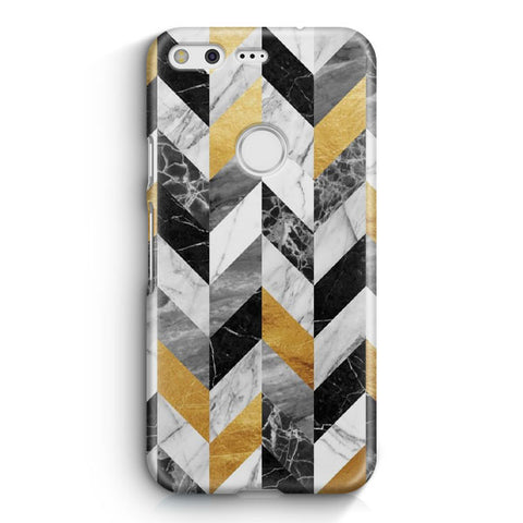 Black Gold Marble Pattern Google Pixel XL Case