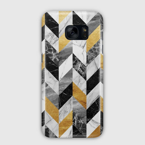 Black Gold Marble Pattern Samsung Galaxy S7 Edge Case