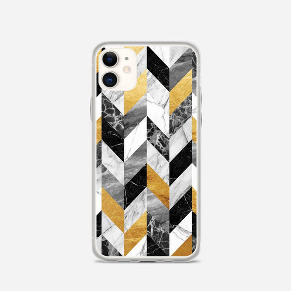 Black Gold Marble Pattern iPhone X Case