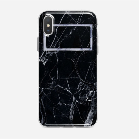 Black Marble iPhone XS Case