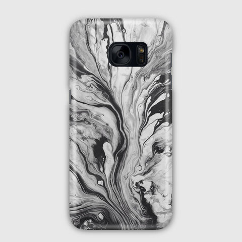 Black White Marble Samsung Galaxy S7 Edge Case