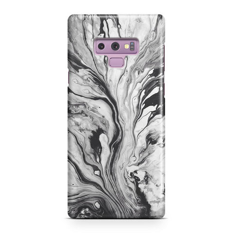 Black White Marble Samsung Galaxy Note 9 Case