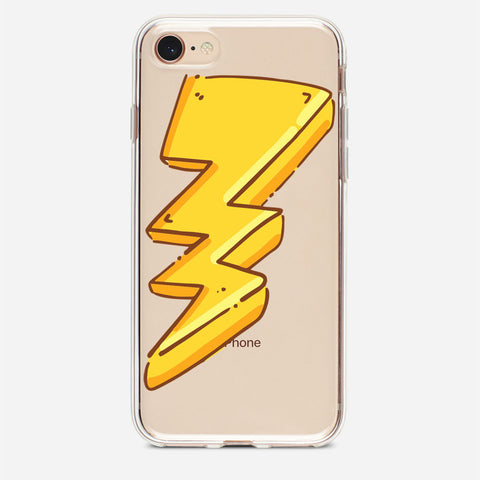 Yellow Cartoon Bolt iPhone 8 Case