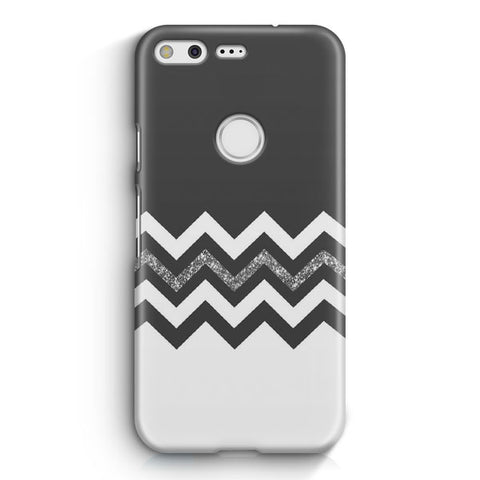 Black White Wide Stripes Google Pixel XL Case