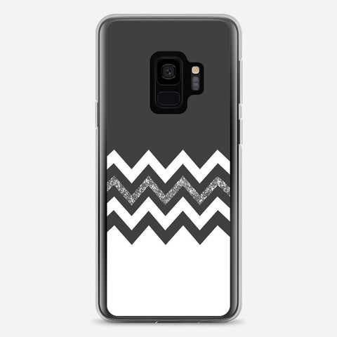 Black White Wide Stripes Samsung Galaxy S9 Case