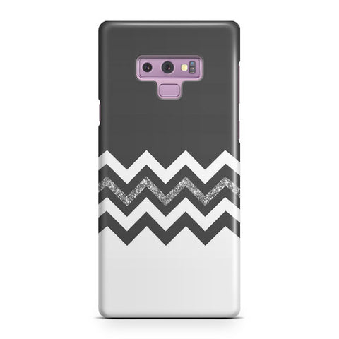 Black White Wide Stripes Samsung Galaxy Note 9 Case