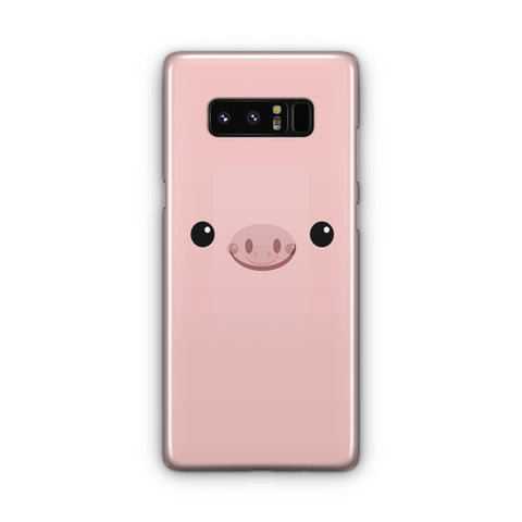 Pink Pig Face Samsung Galaxy Note 8 Case
