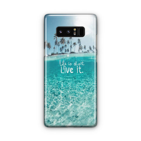 Beach Life Is Short Samsung Galaxy Note 8 Case