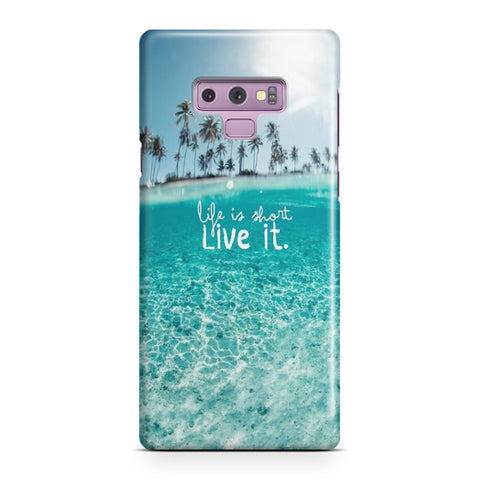 Beach Life Is Short Samsung Galaxy Note 9 Case